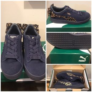 Suede Bow Puma sneakers Big Girls